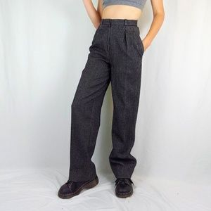 90's striped menswear inspired wool trousers